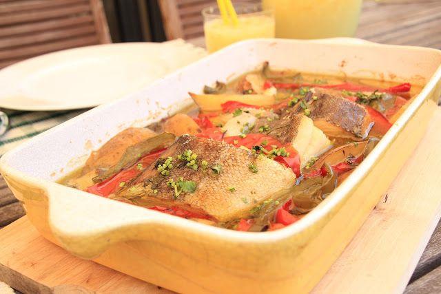 As Minhas Receitas: Bacalhau no Forno com Pimento e Batata