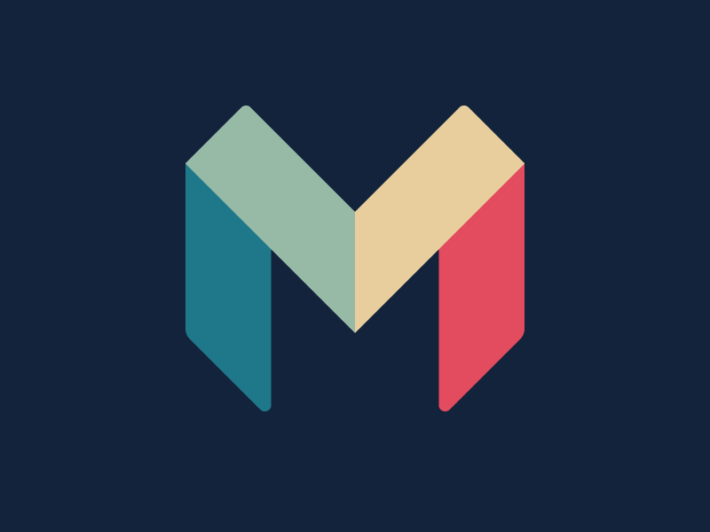 Monzo Identity Letter M Logo Logo Design Initials Logo Design