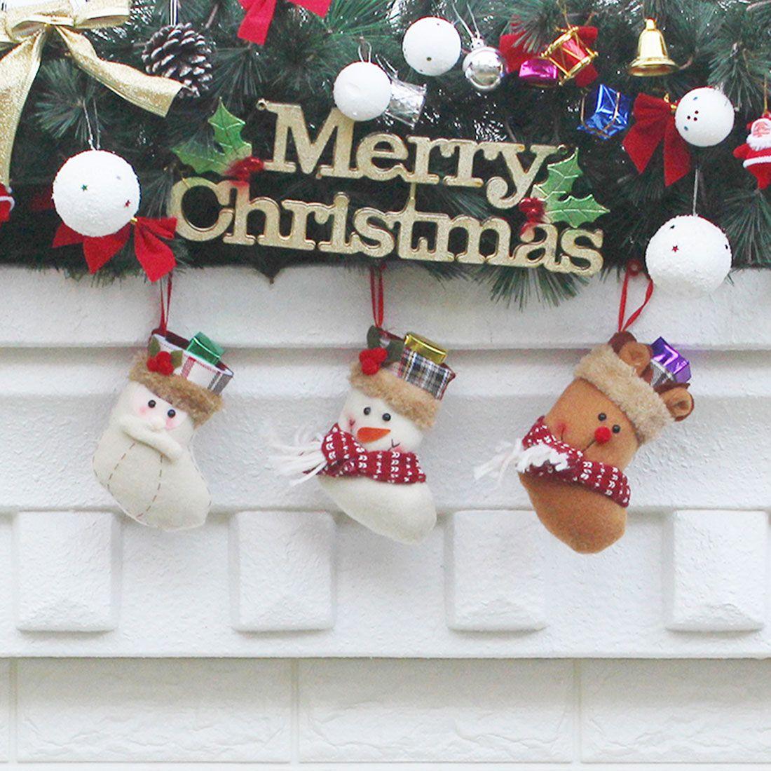 Hot Sale Christmas Stocking Santa Claus Snowman Elk Sock Gift Bag ...