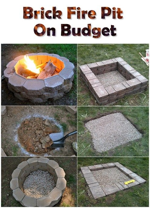 Brick Fire Pit On Budget Diy Outdoor Fireplace Brick Fire Pit