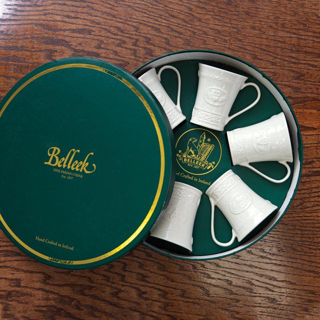 Belleek claddagh mugs gift set mugs irish tea claddagh