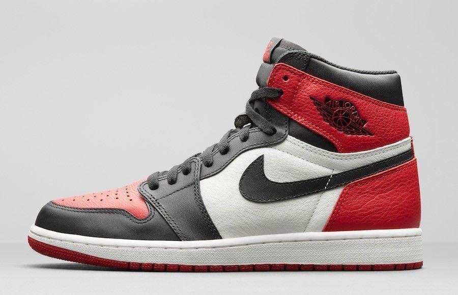 separation shoes 04805 85304 2018 Nike Air Jordan 1 Bred Toe Black Red OG 555088-610 lot New Size