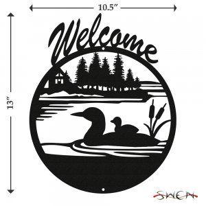 SWEN Products LOON DUCK Steel Scenic Art Wall Design
