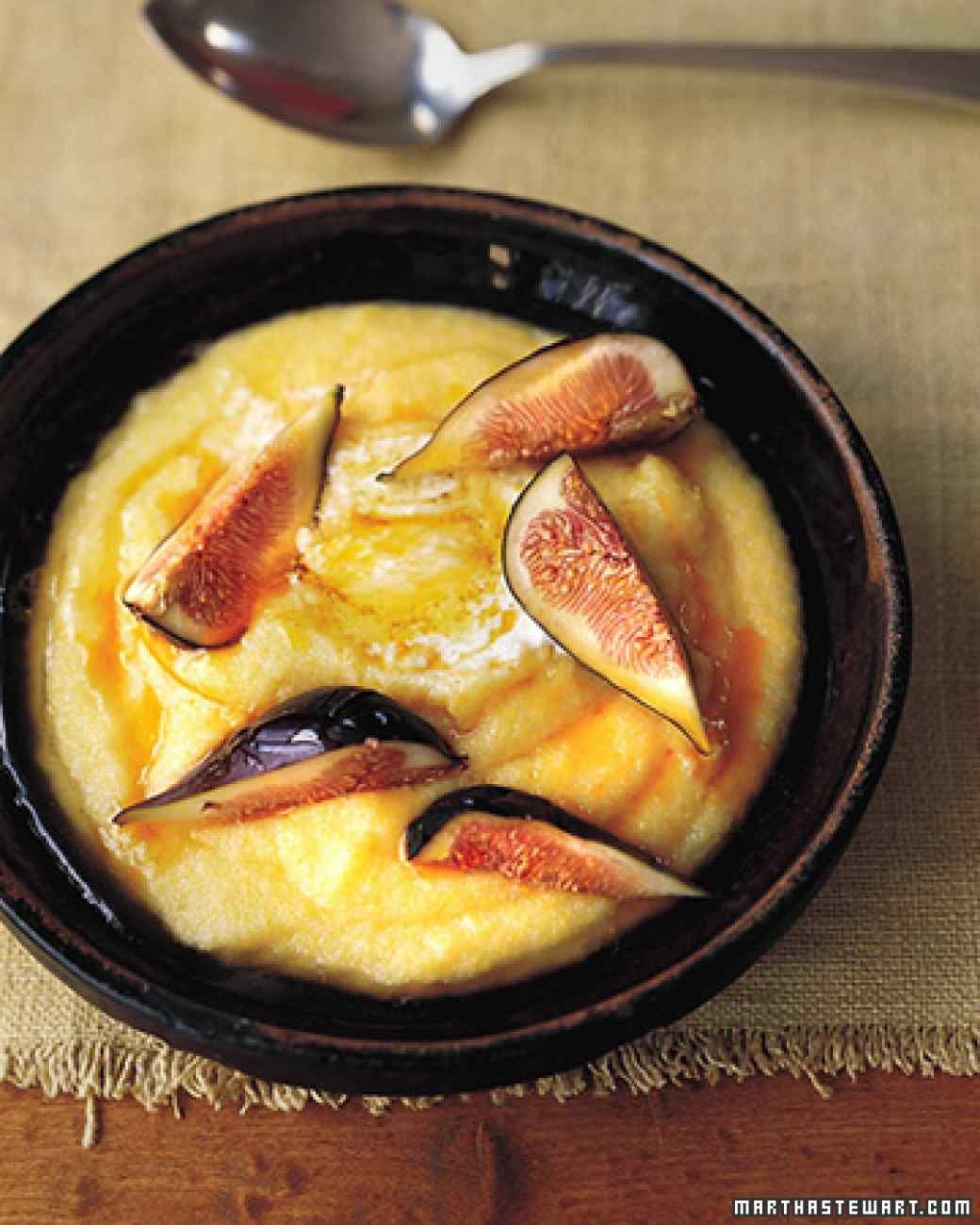 Breakfast Polenta With Figs And Mascarpone Mascarpone Recipes Fig Recipes Polenta