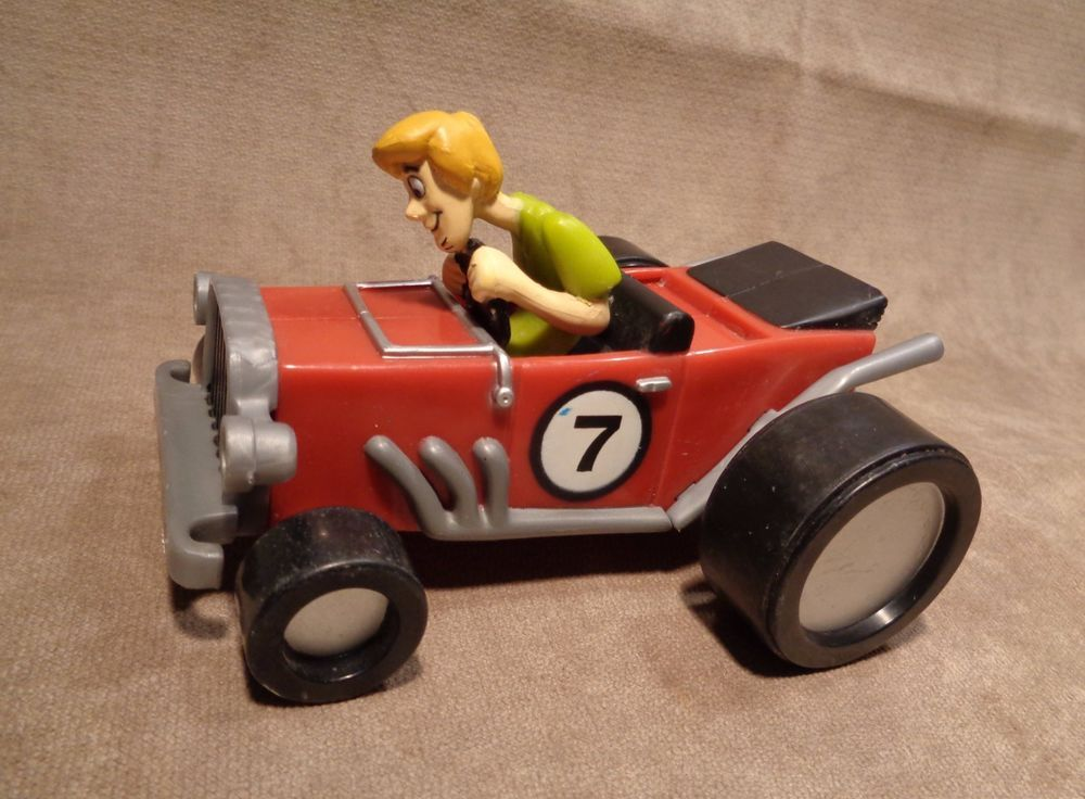 Details about scooby doo shaggy driving race car 7 friction car hanna barbera 2000 16fig20 - Voiture de scoubidou ...
