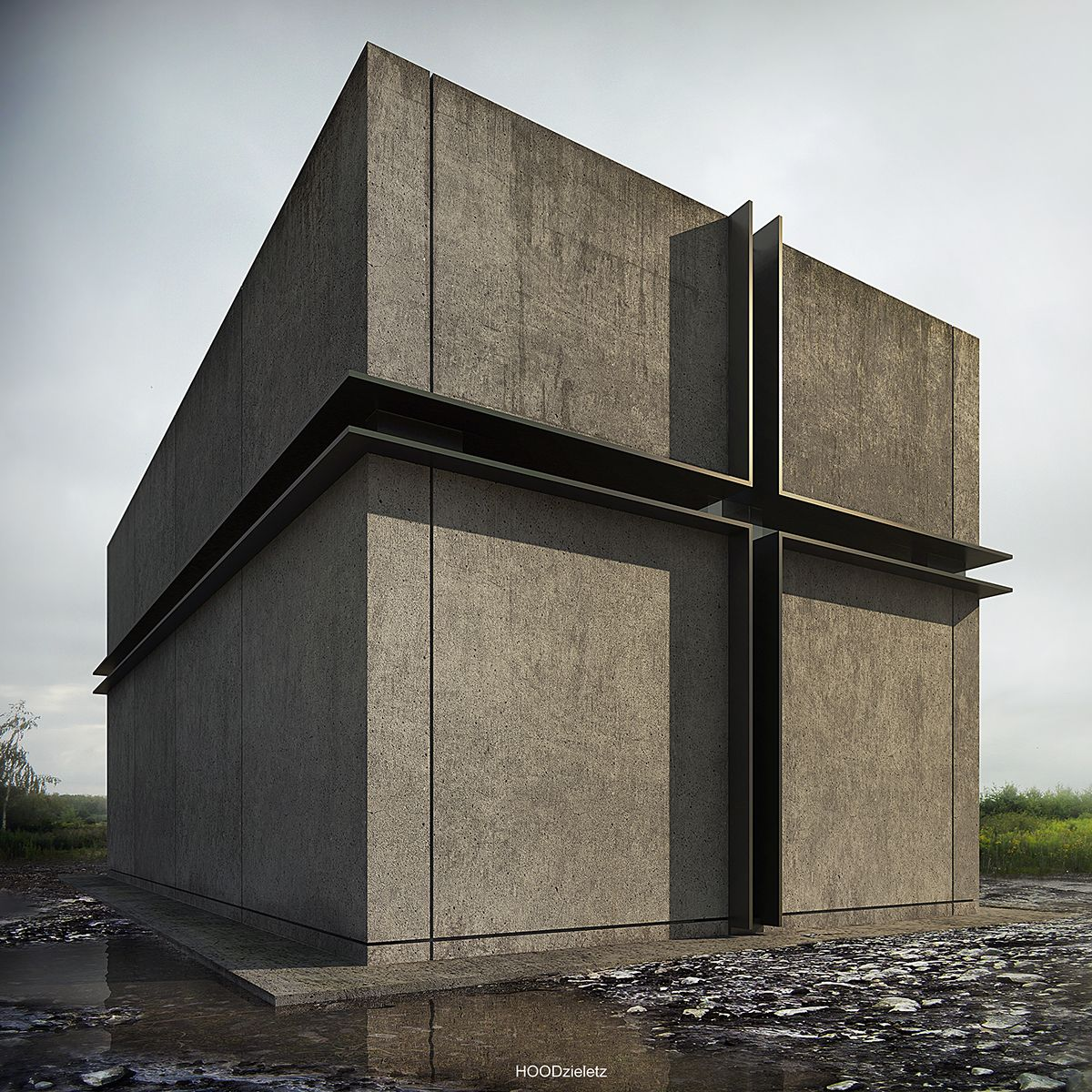 House no. 170. [ Cementary chapel ]Architecture, modeling, rendering and p-production: Adam Spychała