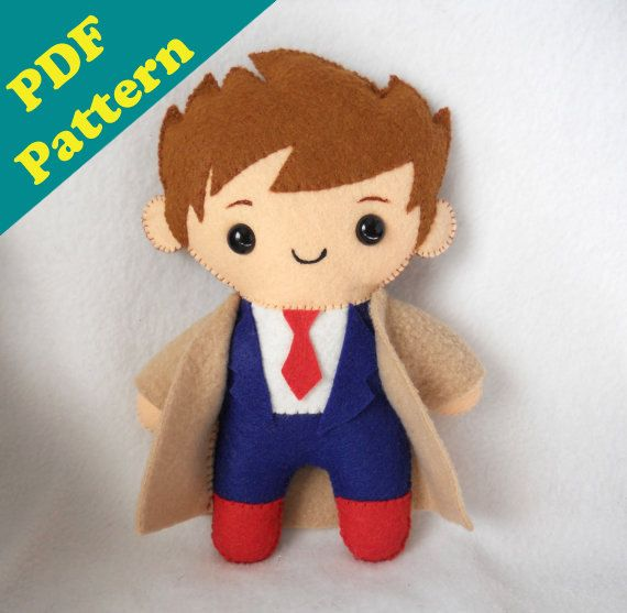 SALE PDF PATTERN  9 Human Plush David by michellecoffee on Etsy, $5.00...I CAN MAKE MY OWN DOCTOR