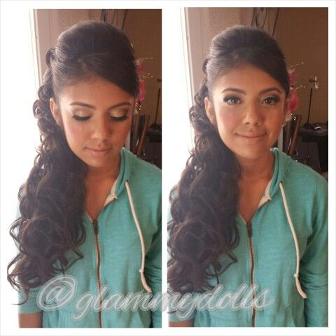 Quinceanera Hairstyles On The Side : Quinceanera hairstyles for long hair youtube