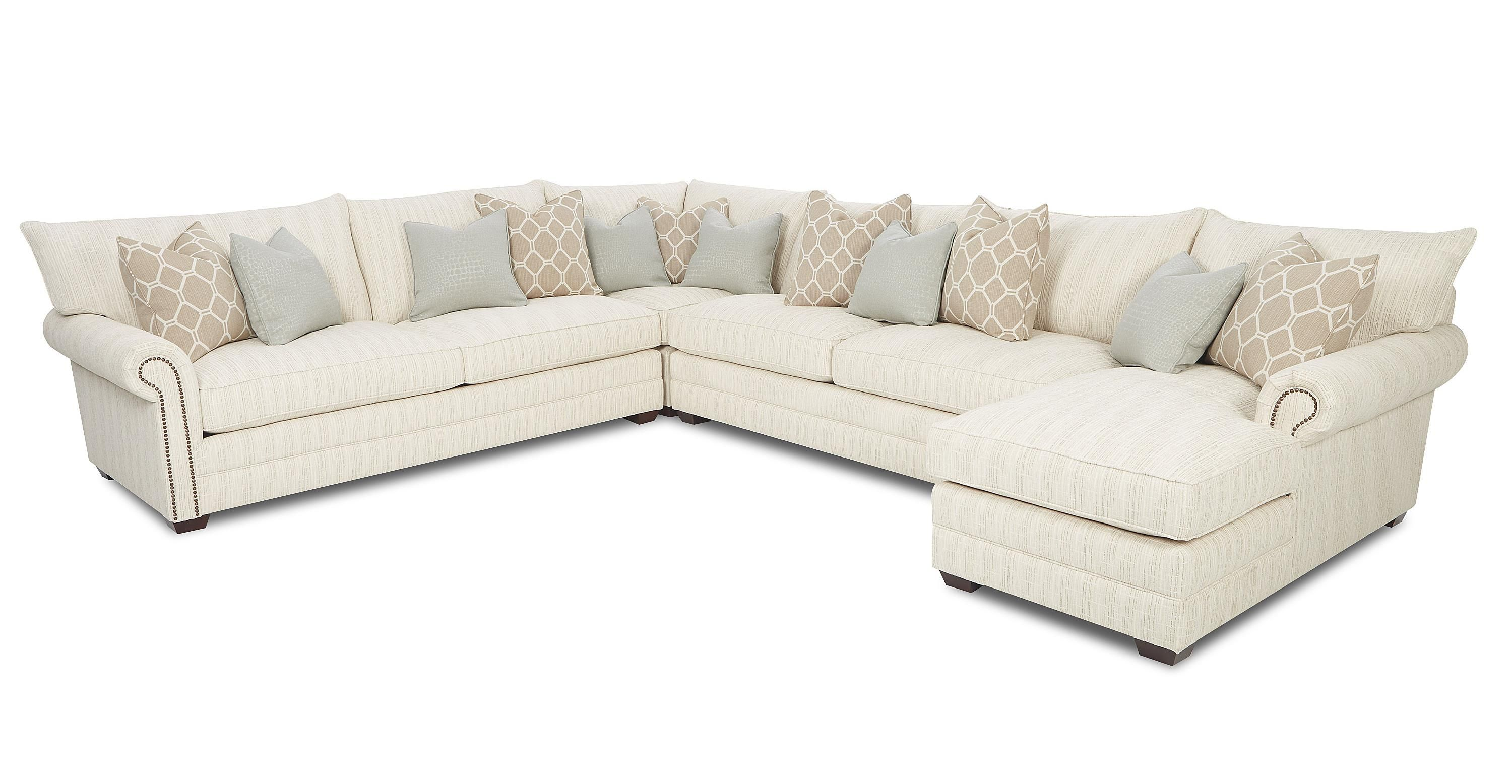 Huntley Traditional Sectional Sofa By Klaussner Leather Couch