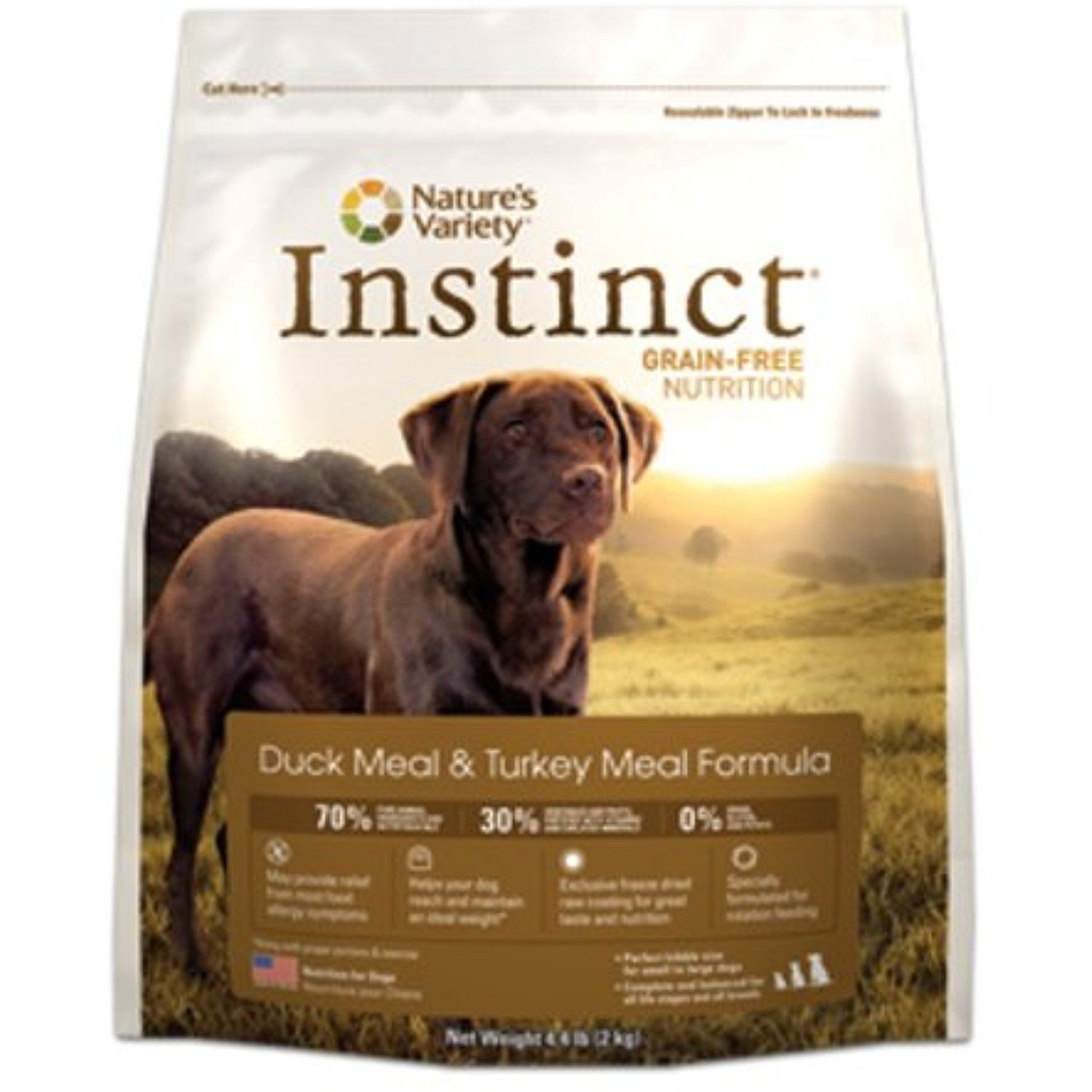 Instinct Grain Free Duck Meal Turkey Meal Dry Dog Food By
