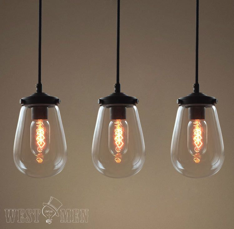 2014 hot sales crystal pendant lights modern clear glass globe pendant lights edison bulbs hand - Modern pendant lighting for kitchen ...