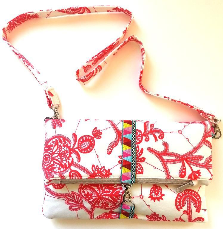 Aggie Ray\'s Fold Over Clutch Purse - PDF Sewing Pattern | Bolsos ...
