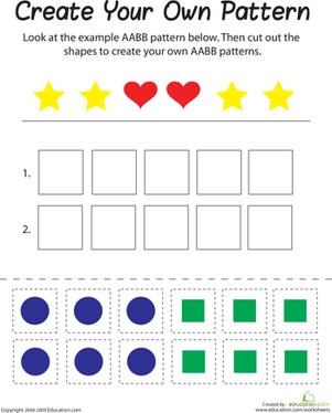 Kindergarten Worksheets Spot the Patterns