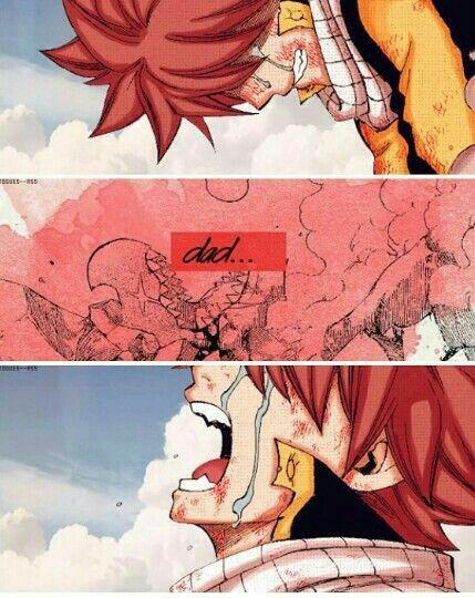 Dad..., sad, text, quote, manga, Natsu, Igneel, family, dead ...
