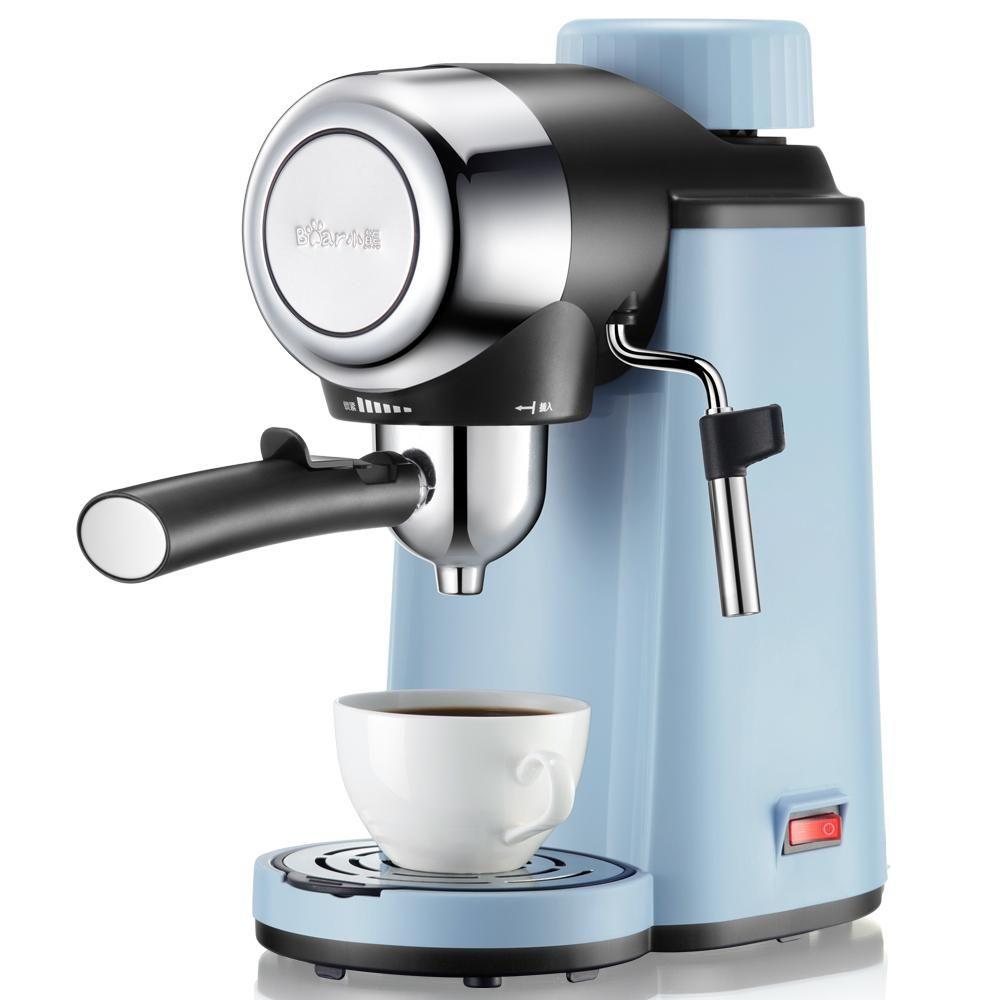 Semi-Automatic Espresso Maker with Steamer in Light Blue #espressomaker