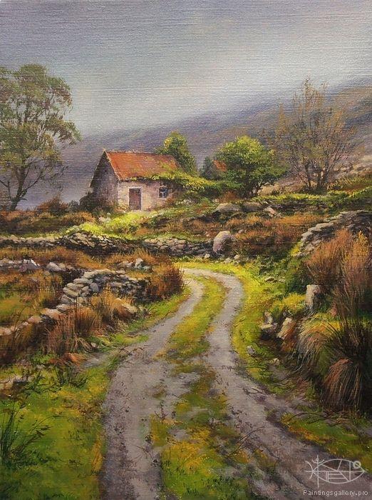 Yushkevich Victor Victorovich Before The Rain Landscape Paintings Oil Painting Landscape Landscape Art