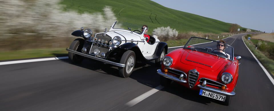 Alfa Romeo Quattroruote & Giulia Spider in der Toskana | Nostalgic Oldtimerreisen