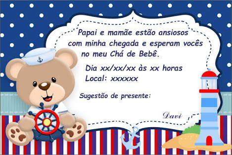 Resultado De Imagem Para Convite De Cha De Bebe Ursinho Chá Do Bryan