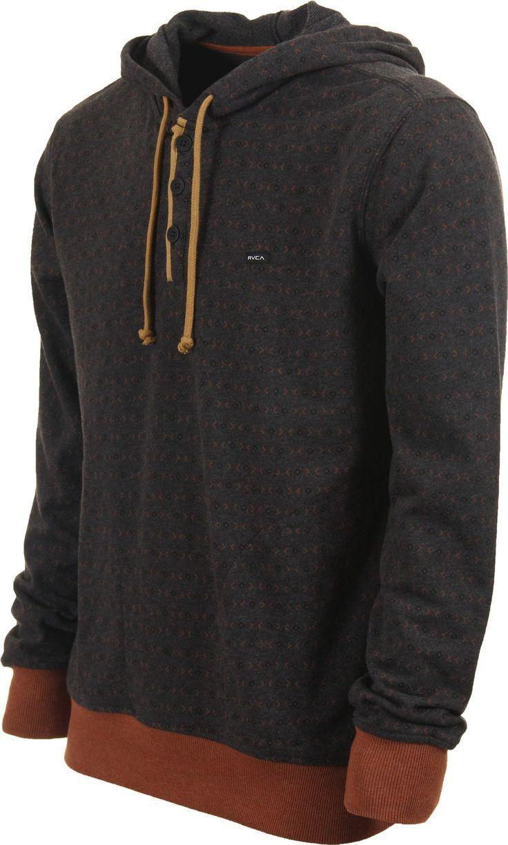 RVCA Magia Hoodie - charcoal - Men's Clothing > Hoodies & Sweaters > Hoodies  > Pullover