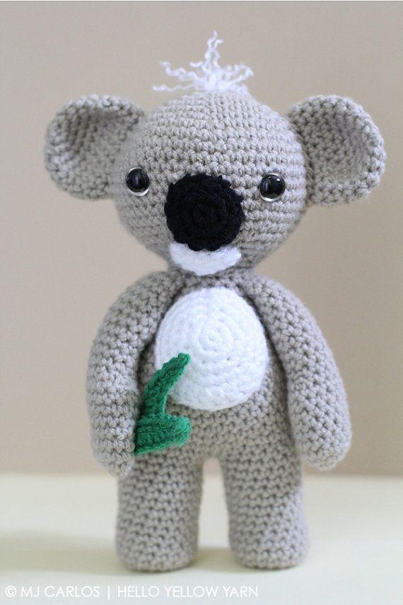 Crochet Amigurumi Koala PATTERN ONLY, KC Koala Cute Amigurumi, pdf