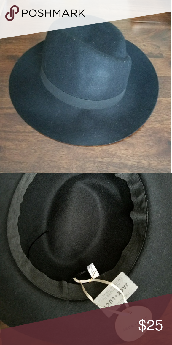 cb2649b7748 NWT Jack + Lucy Hat Brand New Jack +Lucy Black Felt Hat. So stylish going  into Fall. Adjustable! Anthropologie Accessories Hats