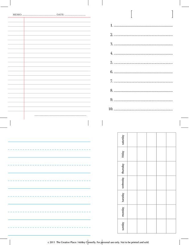 diy    printable journaling cards