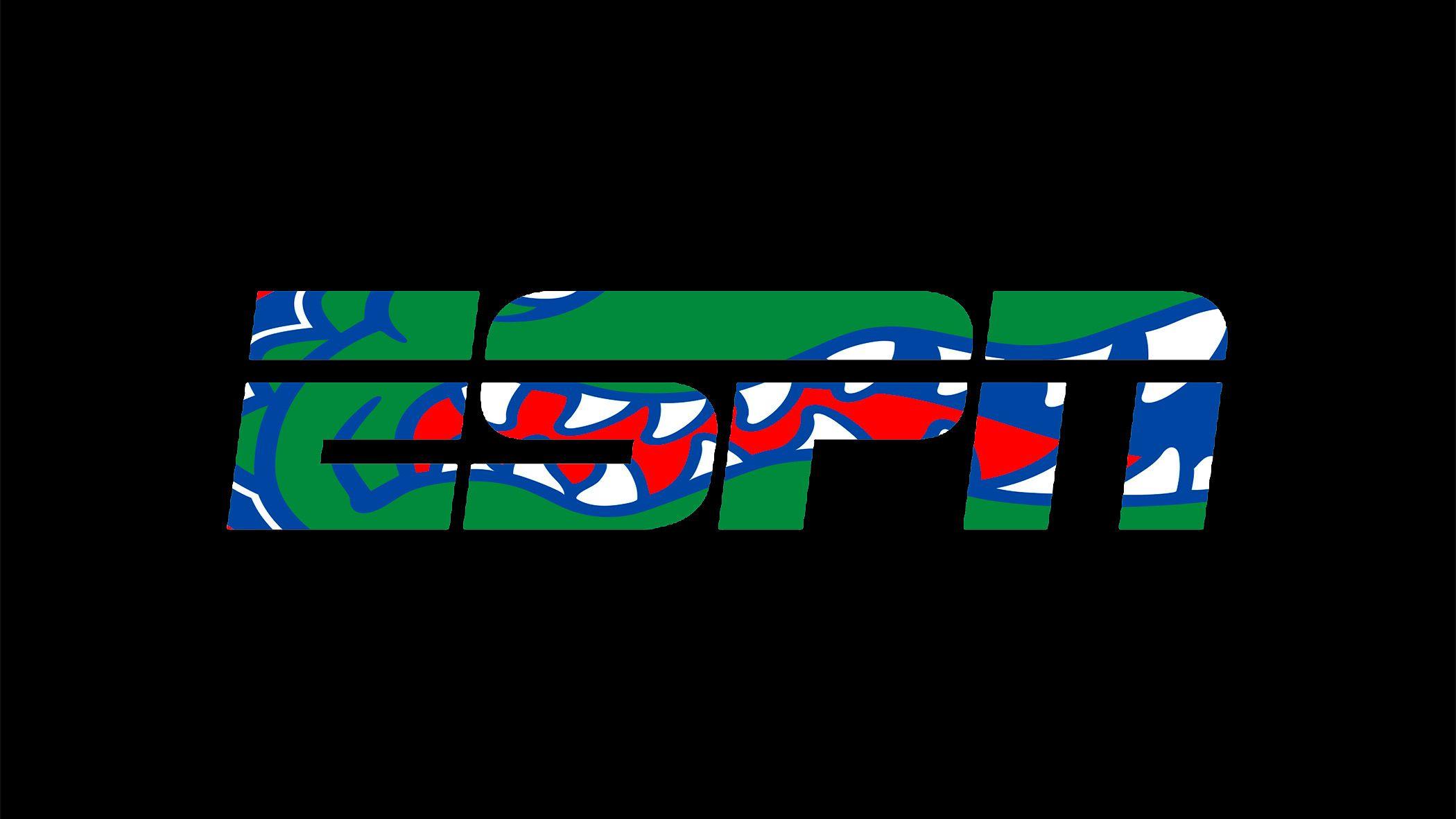Espn logo with the Florida Gators logo inserted inside of