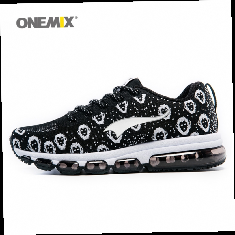 54.40$  Watch now - http://alimvs.worldwells.pw/go.php?t=32748133096 - ONEMIX New Man Running Shoes Men Nice Run Athletic Trainers Black Zapatillas Sports Shoe Max Cushion Outdoor Walking Sneakers