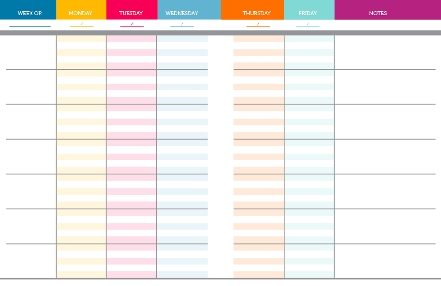 image about Free Printable Teacher Planner Pdf known as 52 Weekly Designing Spreads in just PDF 1st Instructor planner