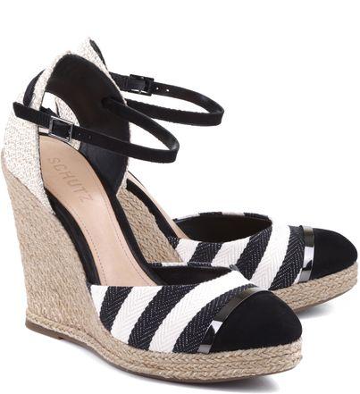 de416b147 ESPADRILLE ANABELA STRIPES BLACK | sapatos | Pinterest | Anabela ...