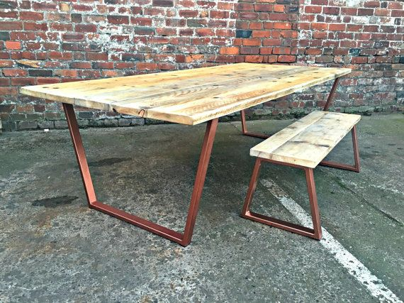 Reclaimed Industrial Chic 8-10 Seater Solid Wood and von RCCLTD