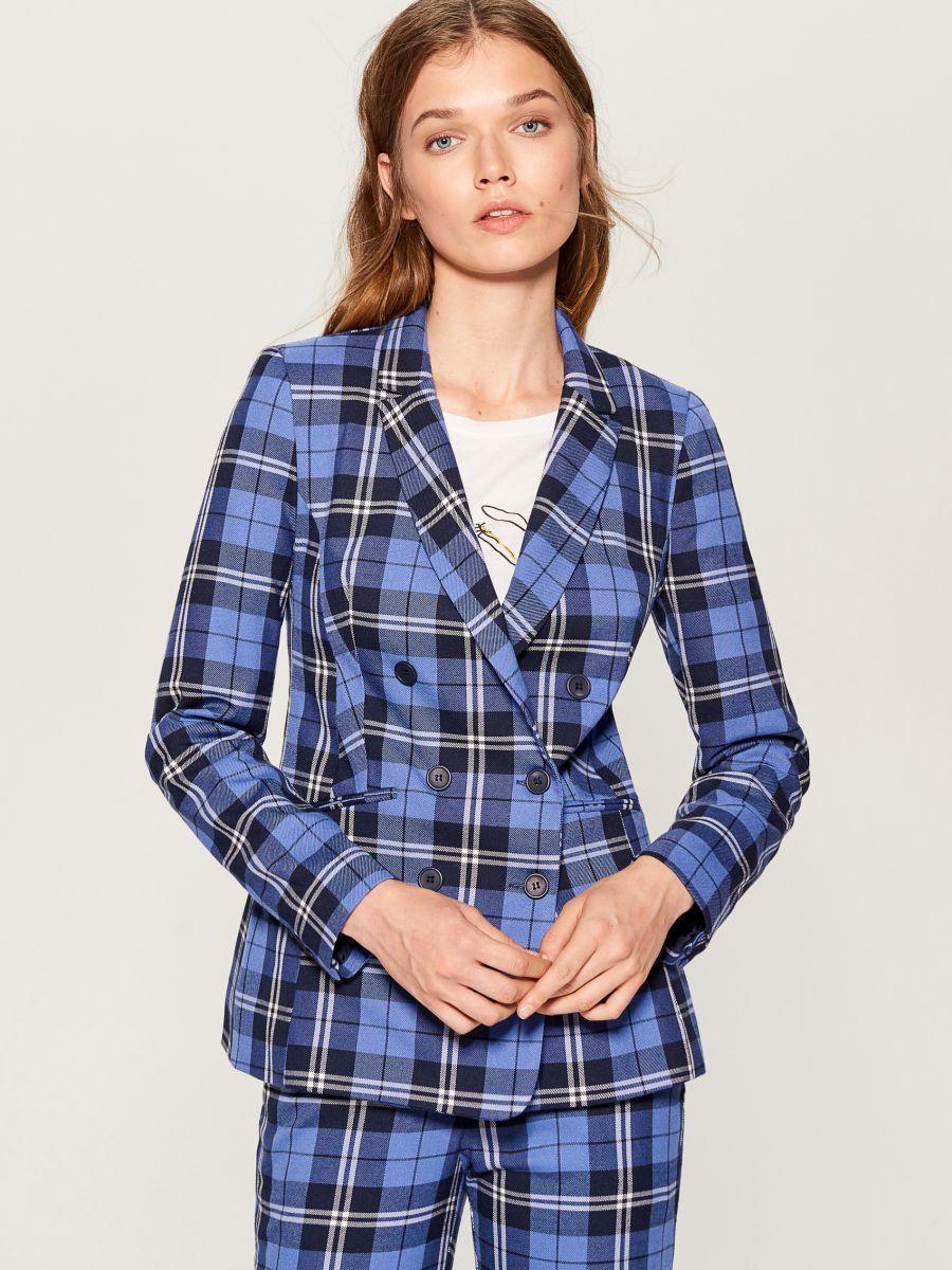 Dwurzedowa Marynarka W Krate Wielobarwny Vl107 Mlc Mohito 1 Women S Blazer Checked Jacket Fashion