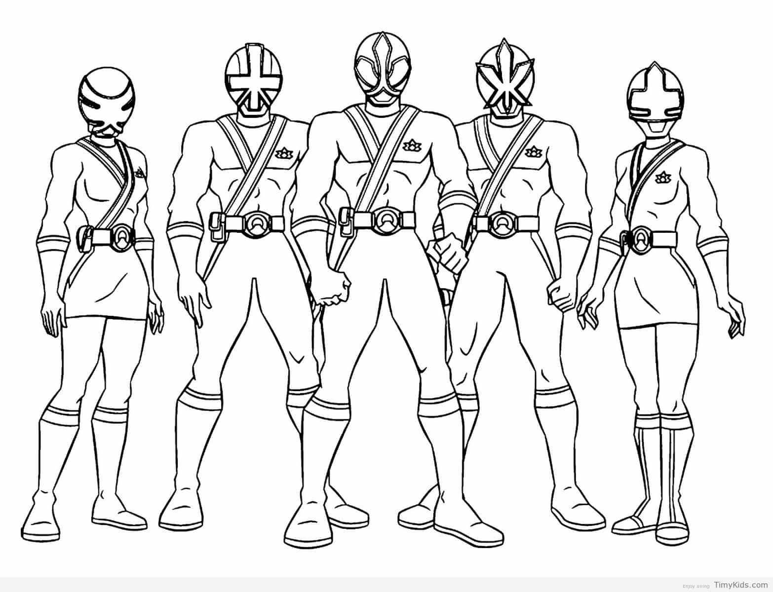 power rangers coloring