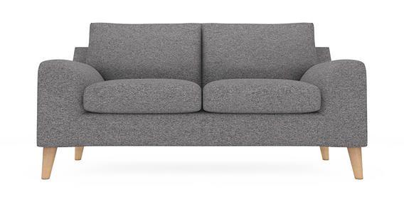 Buy Astrid Medium Sofa Seats Tweedy Weave Mid Grey Low Retro Tapered