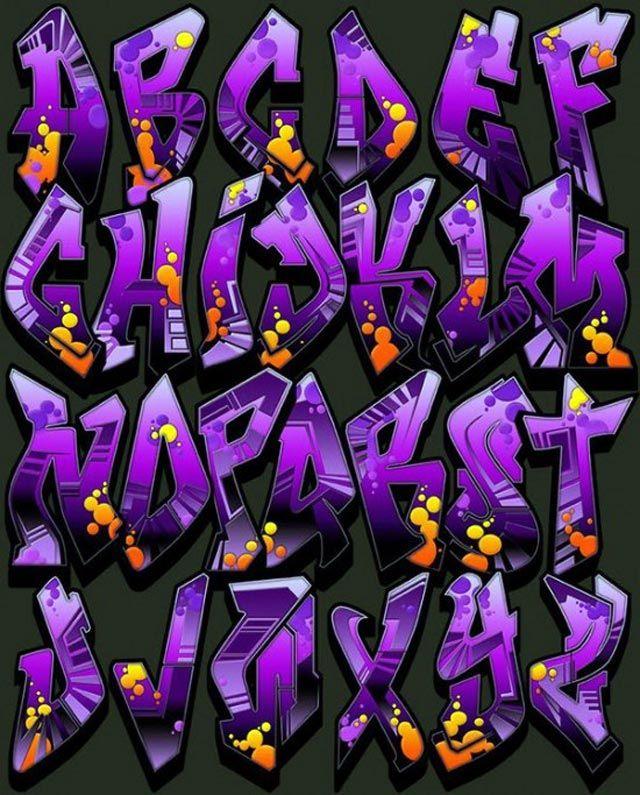 Billedresultat for graffiti alphabet block style | Graffiti