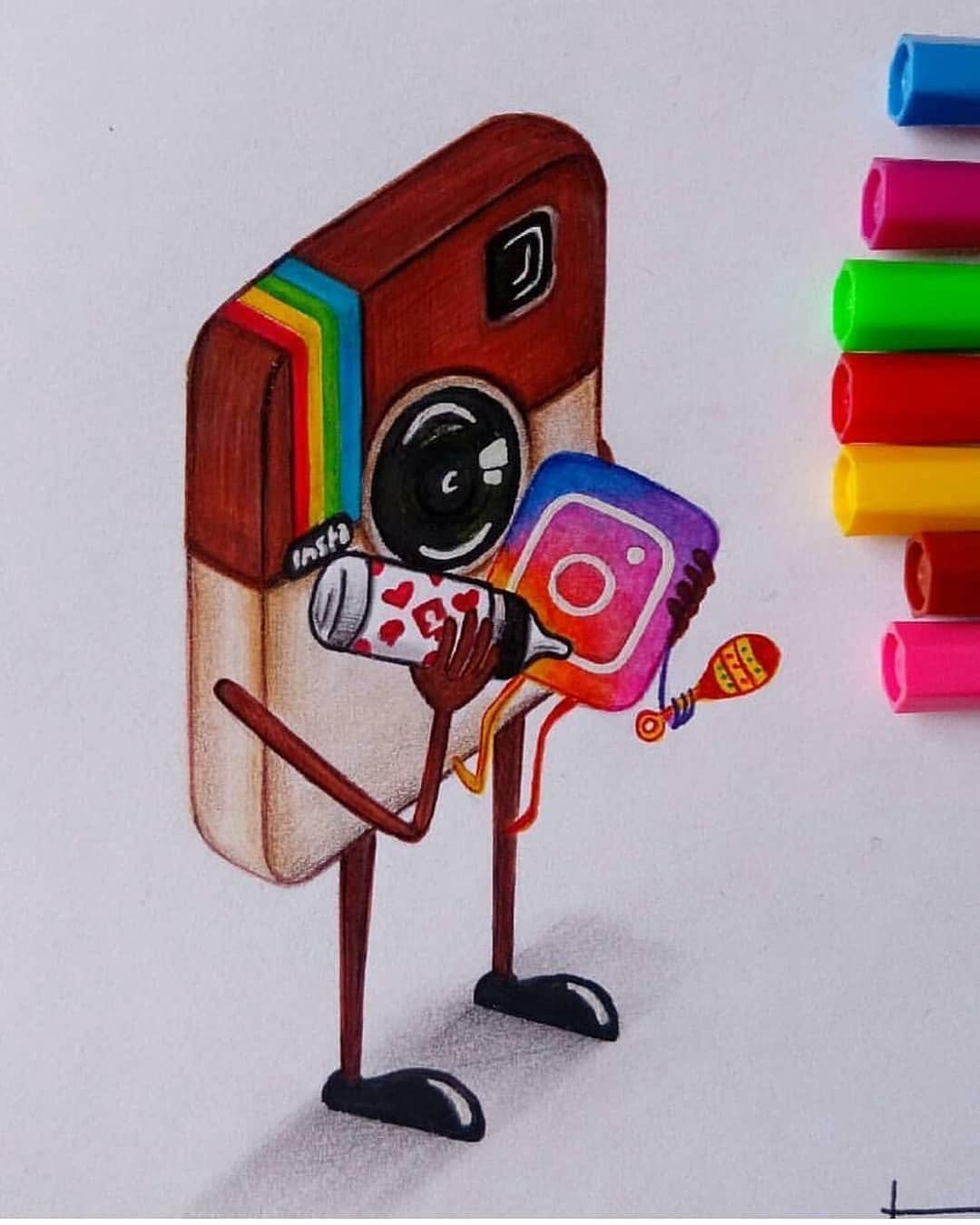 40 Cool Art Ideas Which One Is Your Favorite 1 10 Follow By Art Social Media Drawings Social Media Art Creative Drawing