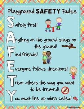 playground and recess safety rules posters cute classroom