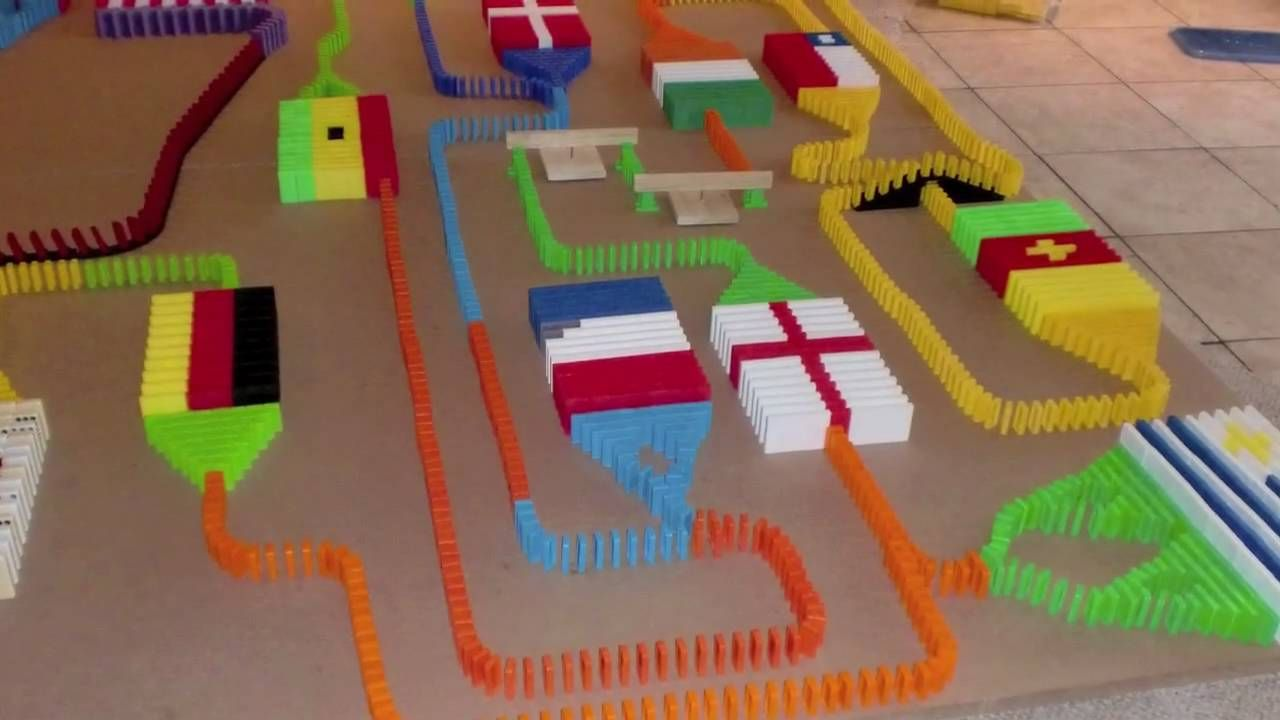 World Cup Domino Line Dominoes I Luv It Pinterest - Video dominoes falling reverse simply mesmerizing
