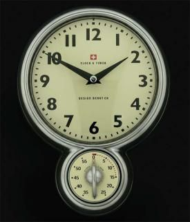 Lovely Retro Wall Clock With Detachable Timer By Swedish Bengt Ek