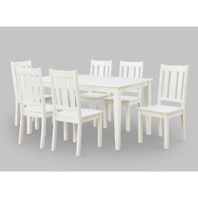 Bankston Dining Chair Wood Kitchen Chairs Furniture Contemporary Set 2 White New
