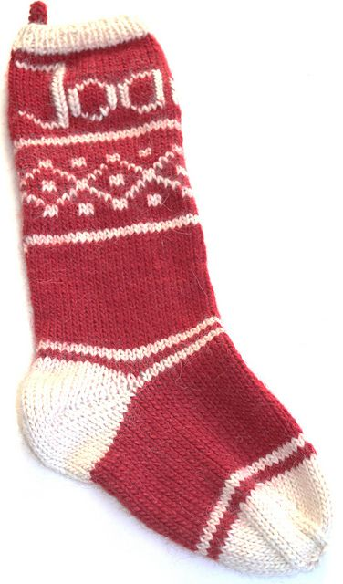Variation on Santa's Favorite Christmas Stocking by Angela Juergens (Ravelry)