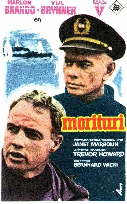 THE SABOTEUR Code name MORITURI (1965) - Dir. Bernhard Wicki - Un buen ejemplo de cine negro a bordo de un mercante alemán que transporta 7.000 Tons de caucho hacia Alemania y que quiere apresar la armada británica. Interesante para conocer la vida a bordo de un mercante.