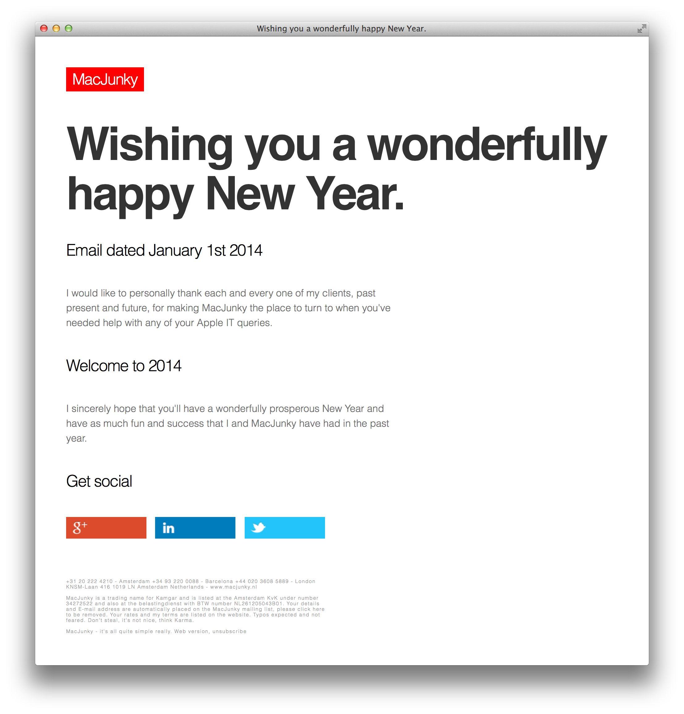 Wishing You A Wonderfully Happy New Year Apple Mac Newyear Macjunky Amsterdam Happy New Year Data Recovery Supportive