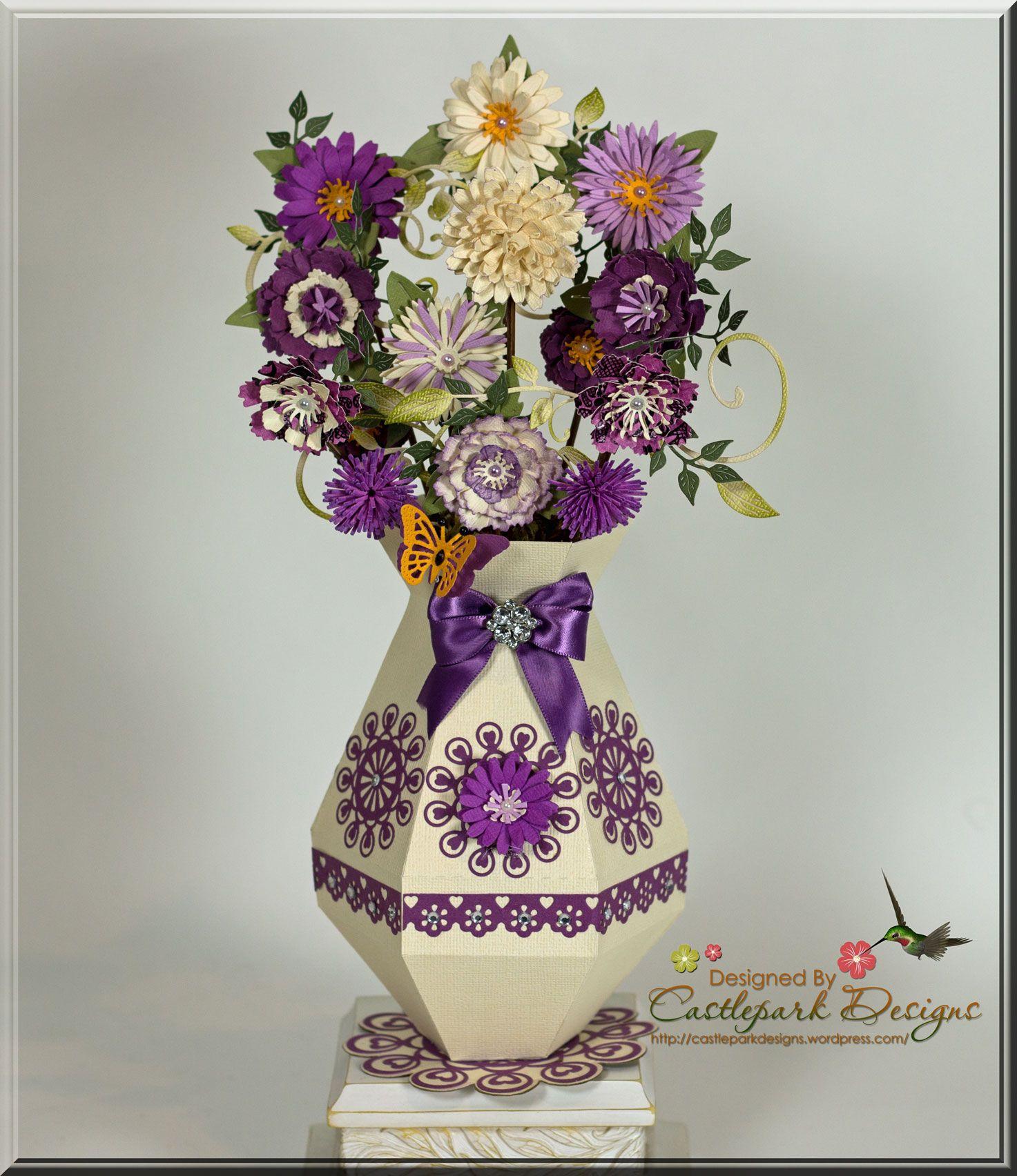Flower Vase – Pretty in Purple! | Quilling, Tutorials and Quilling ... for Paper Quilling 3d Flower Vase  111ane