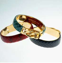 Vita Leather and Gold Chain Bracelets