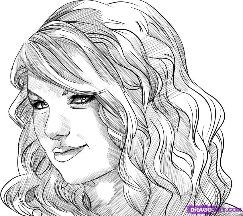 dragoart.comhow to draw taylor swift step | Coloring pages ...