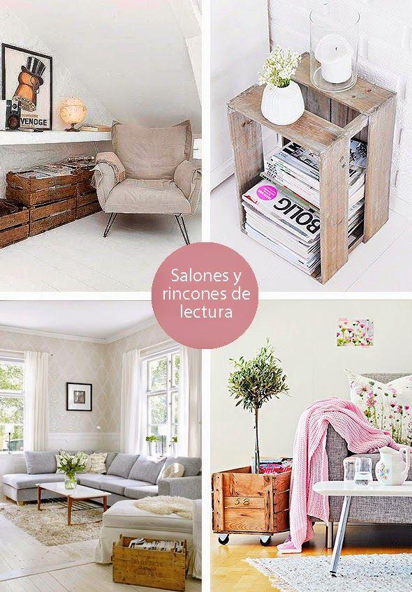 Revisteros con cajas de madera : via MIBLOG