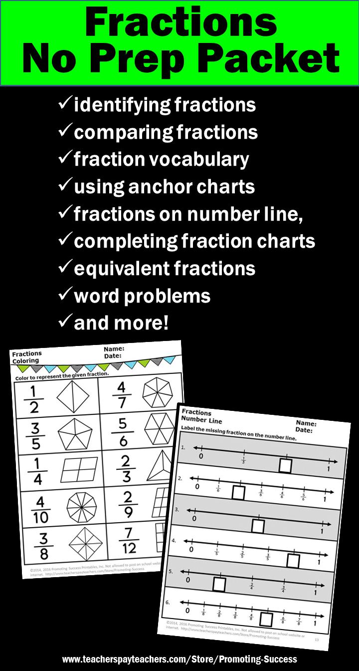 3rd Grade Math Fractions Worksheets No Prep Fractions On A Number Line And Pictorial Fraction Fraction Word Problems 3rd Grade Math Math Fractions Worksheets [ 1344 x 720 Pixel ]