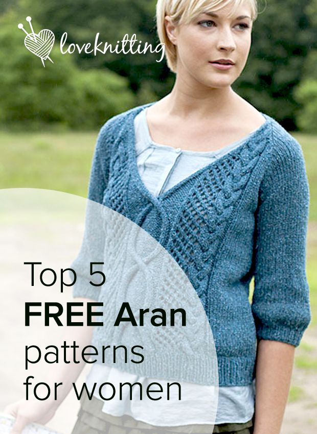 190204ced7a2a Top 5 FREE Aran knitting patterns - Available to download at LoveKnitting