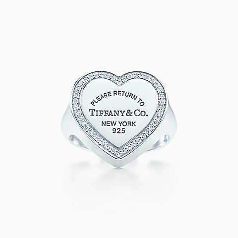 dbb3b6ae63705 Return to Tiffany™ heart signet ring in sterling silver with ...